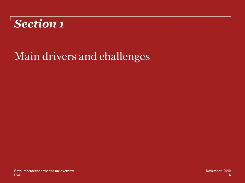 Main drivers and challenges