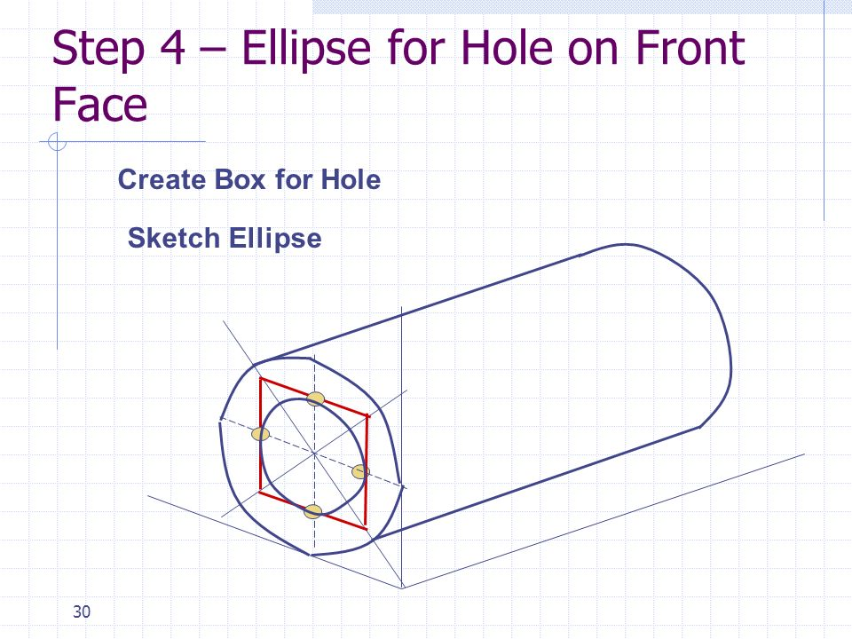 Step 4 – Ellipse for Hole on Front Face