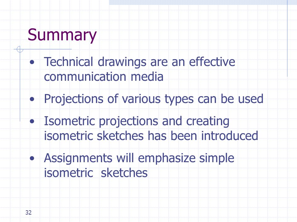 Summary Technical drawings are an effective communication media