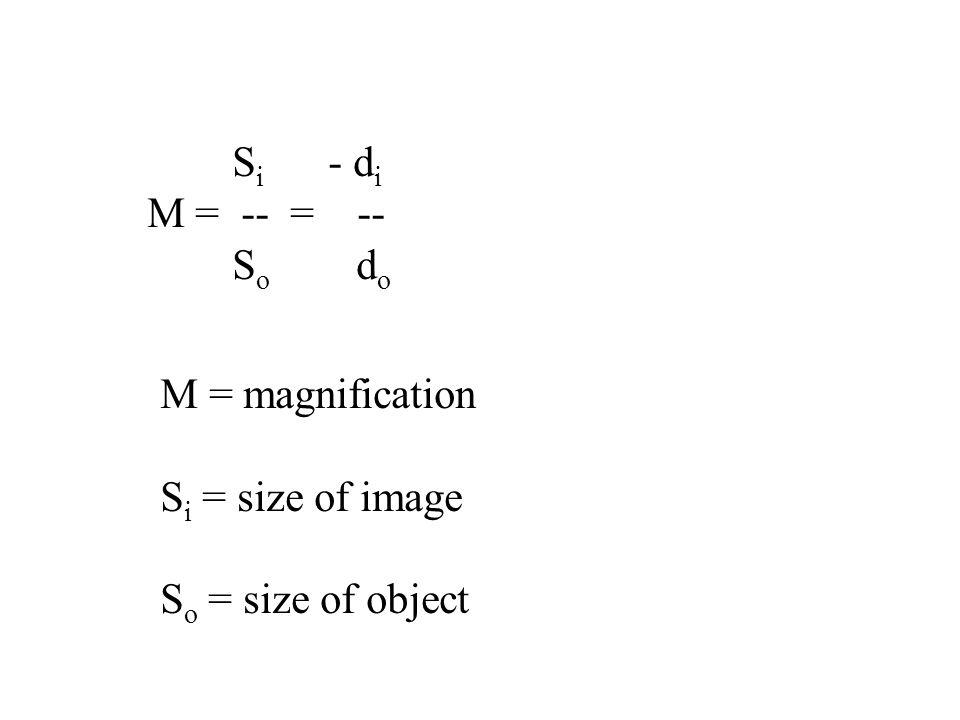 Si - di M = -- = -- So do.