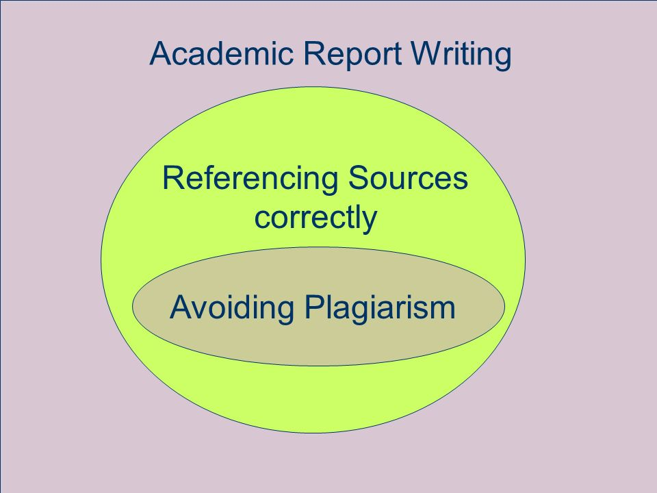 Academic Report Writing