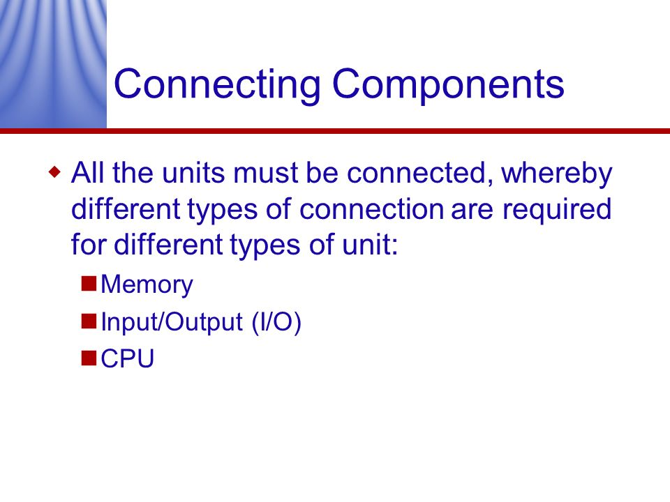 Connecting Components