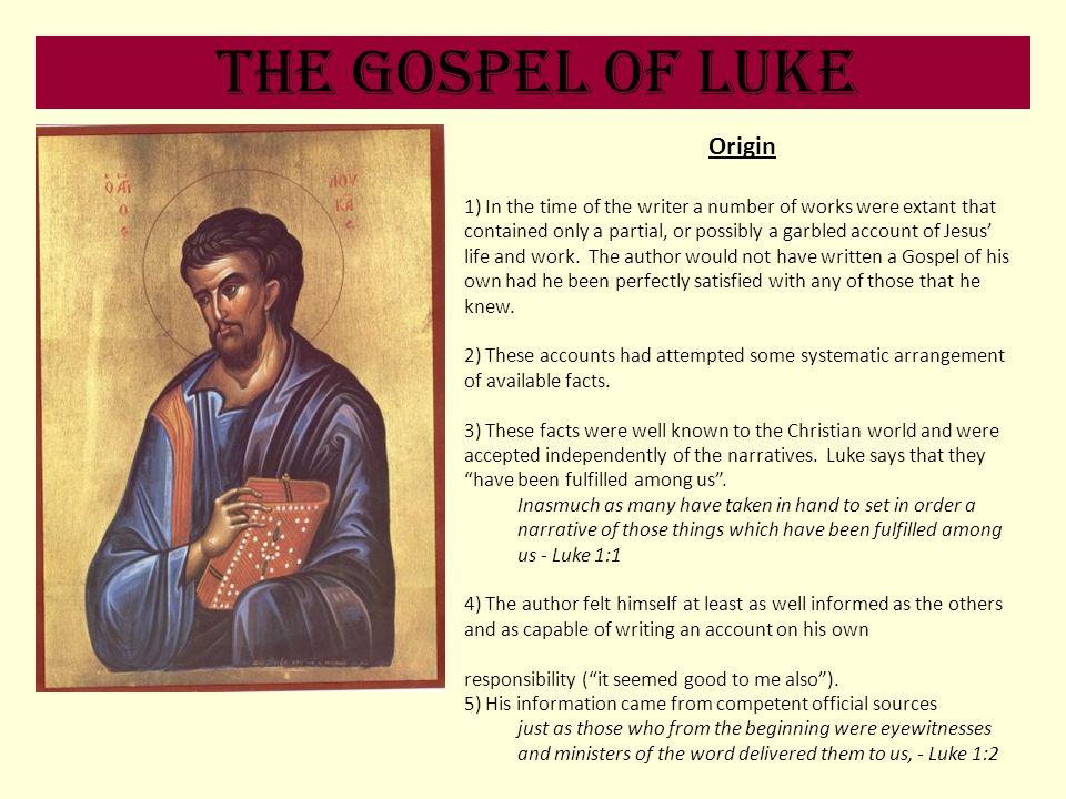 The Gospel of Luke Origin