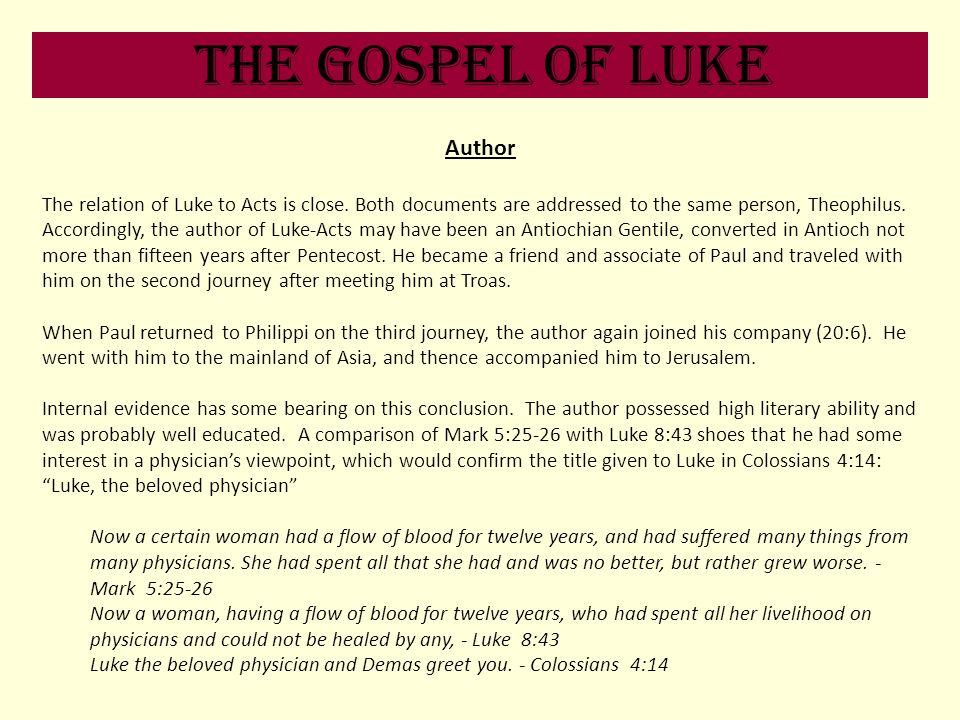 The Gospel of Luke Author