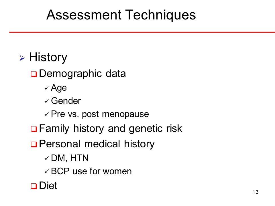 Assessment Techniques