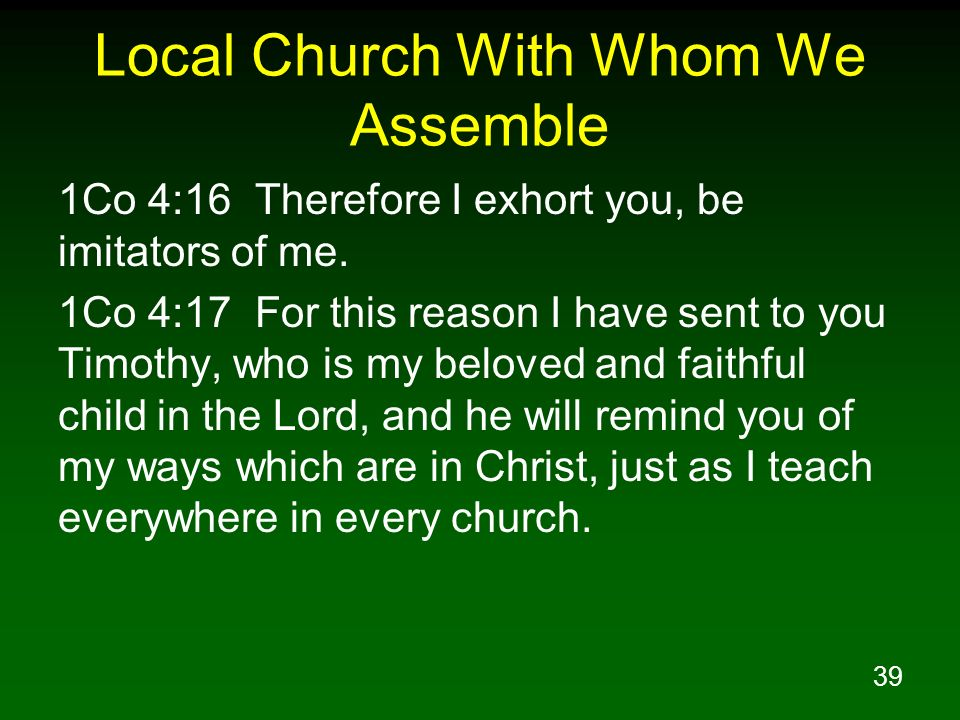 Local Church With Whom We Assemble
