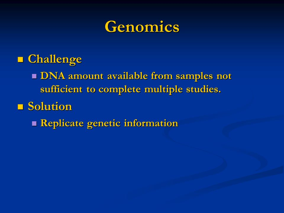 Genomics Challenge Solution