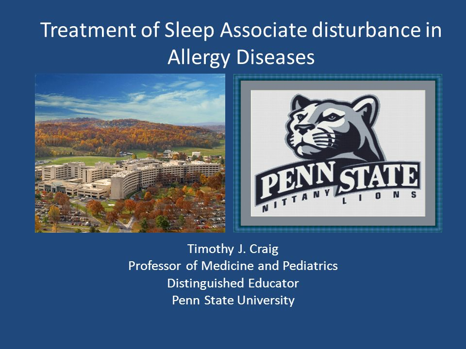 Treatment of Sleep Associate disturbance in Allergy Diseases