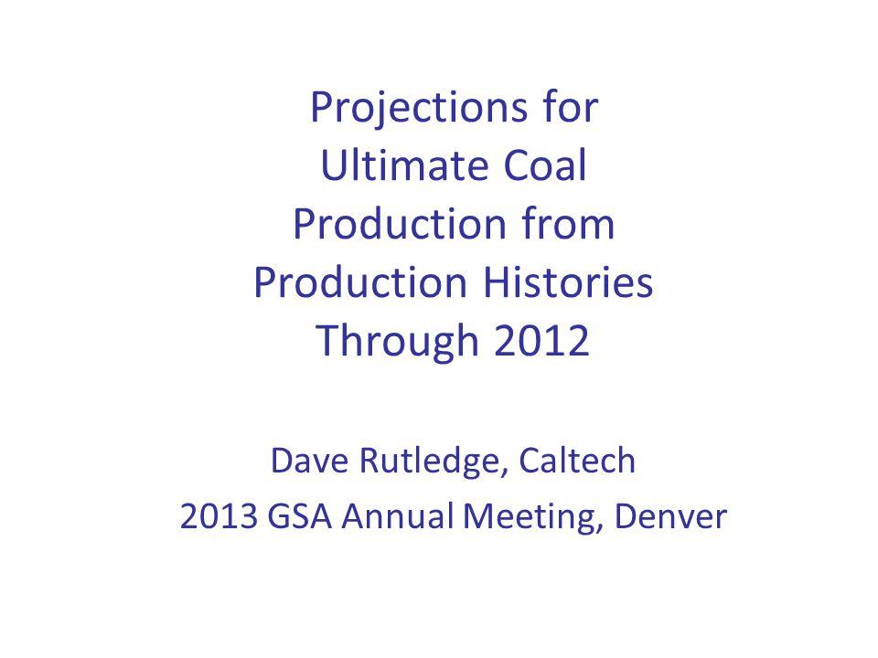 Dave Rutledge, Caltech 2013 GSA Annual Meeting, Denver