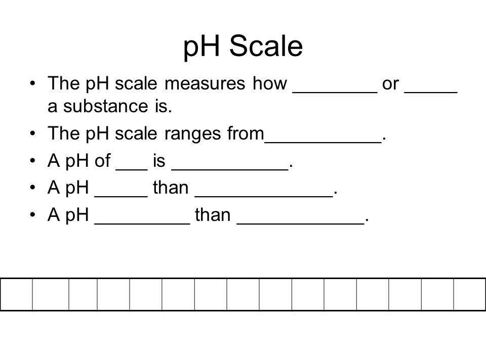 pH Scale The pH scale measures how ________ or _____ a substance is.
