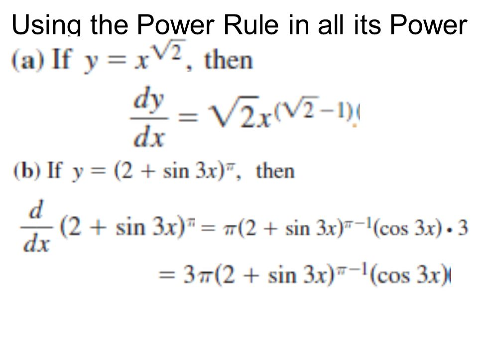 Using the Power Rule in all its Power