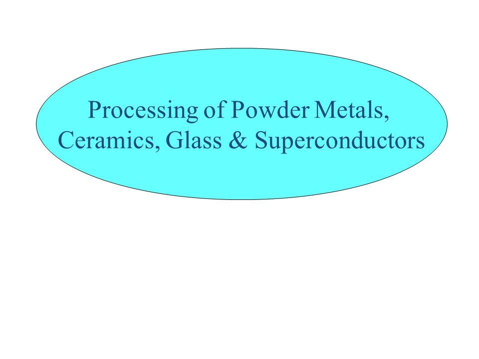 Processing of Powder Metals, Ceramics, Glass & Superconductors