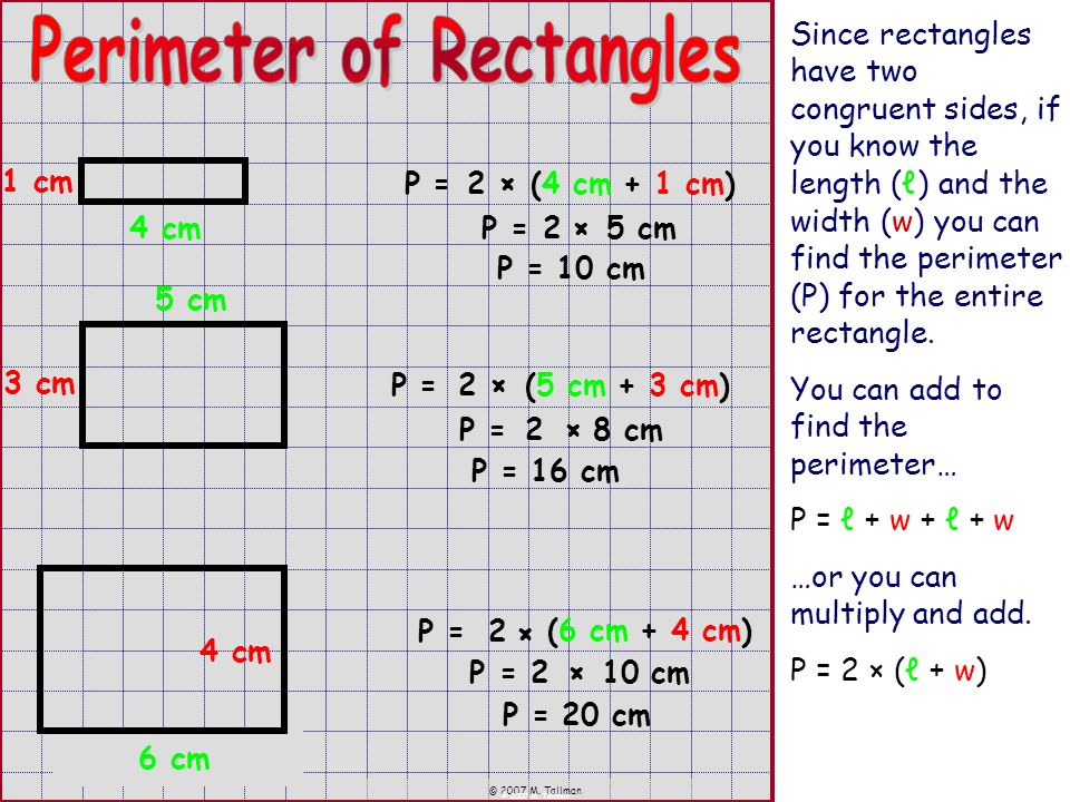 Perimeter of Rectangles
