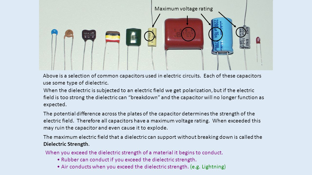 Maximum voltage rating