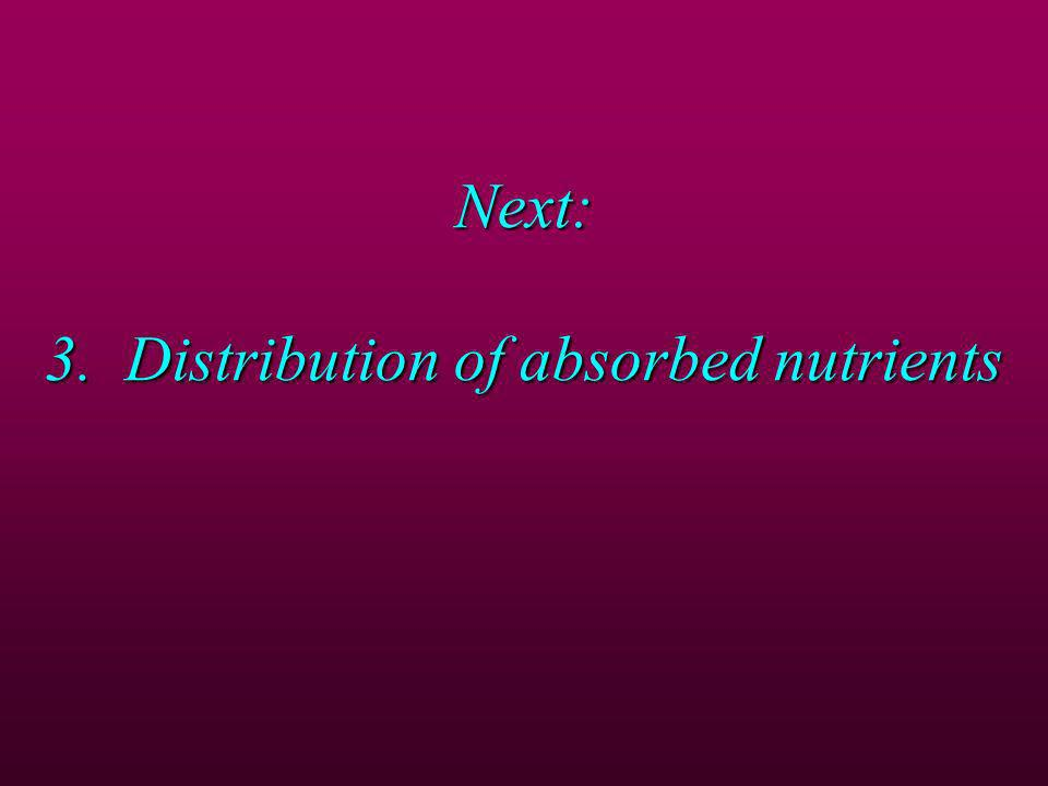 Next: 3. Distribution of absorbed nutrients