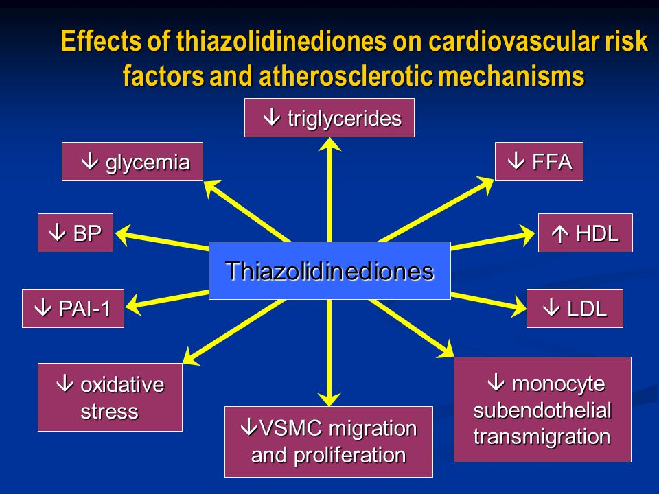 Effects of thiazolidinediones on cardiovascular risk factors and atherosclerotic mechanisms