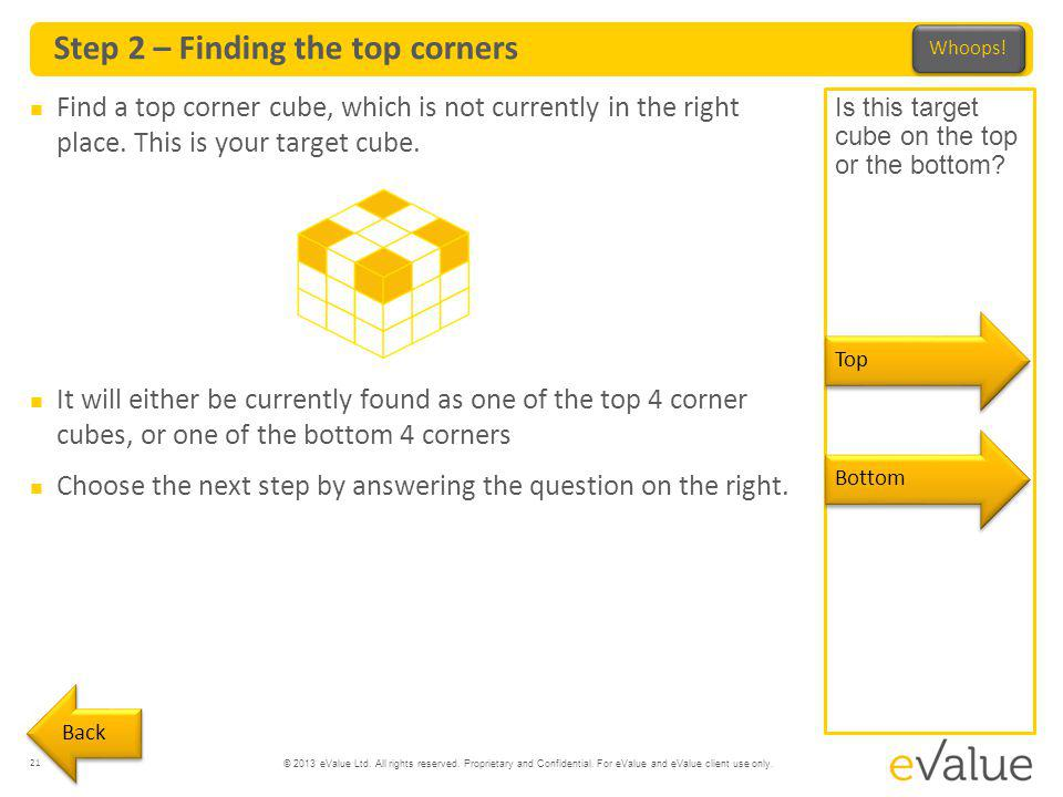 Step 2 – Finding the top corners