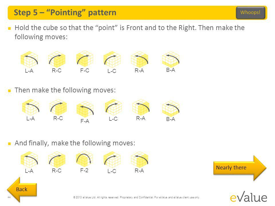 Step 5 – Pointing pattern