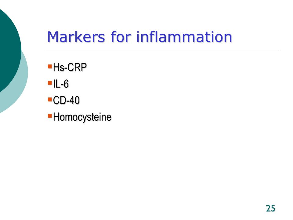 Markers for inflammation
