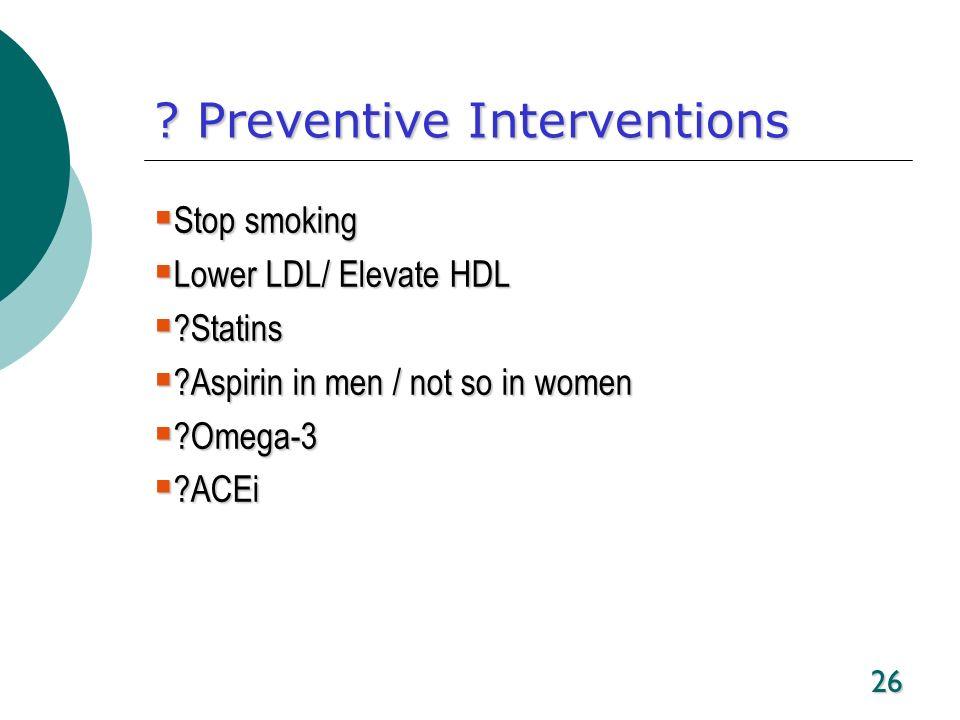 Preventive Interventions