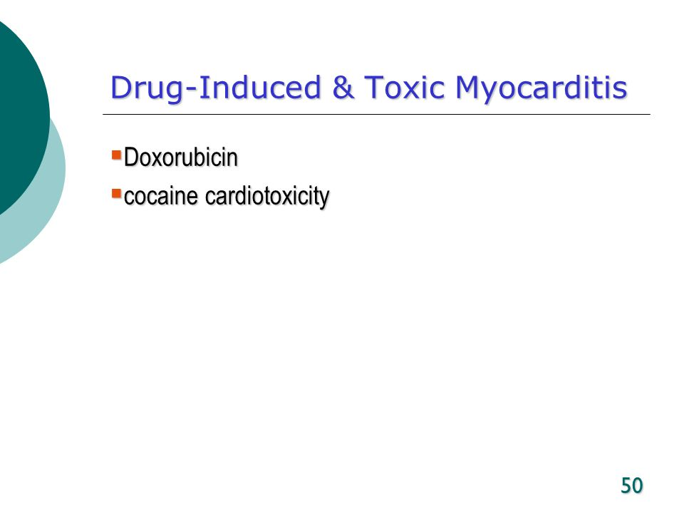 Drug-Induced & Toxic Myocarditis