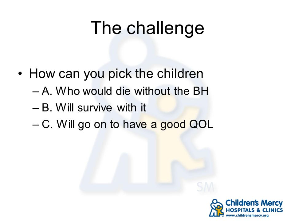 The challenge How can you pick the children