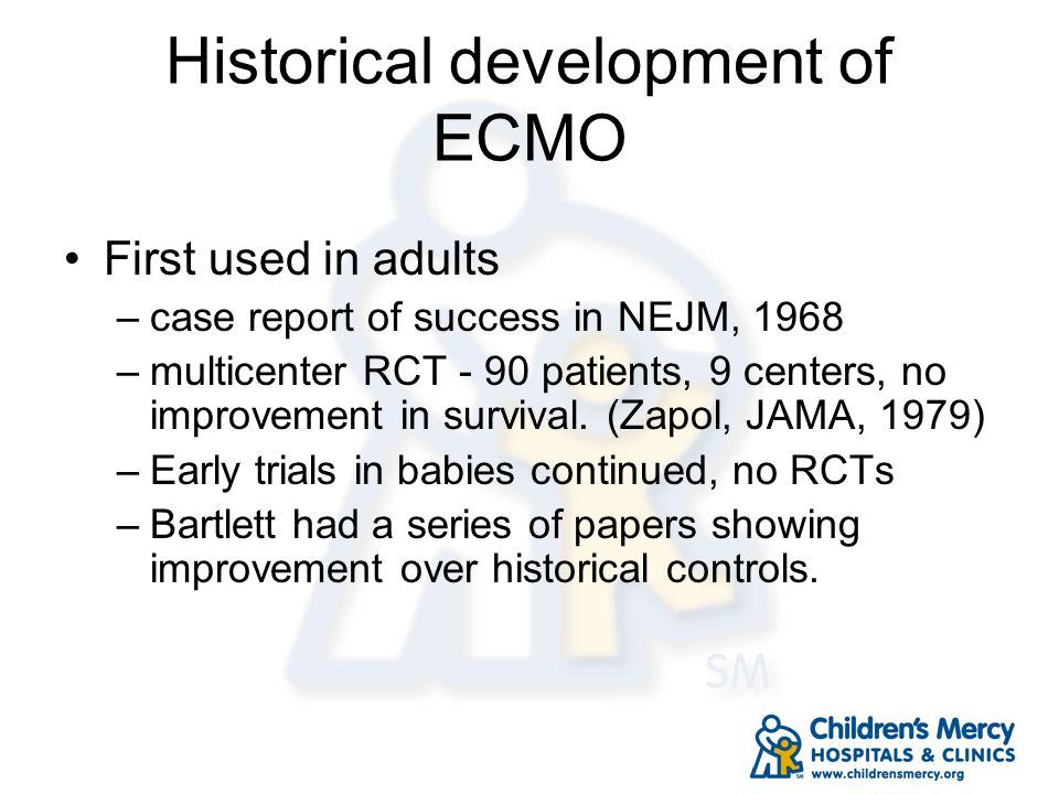 Historical development of ECMO