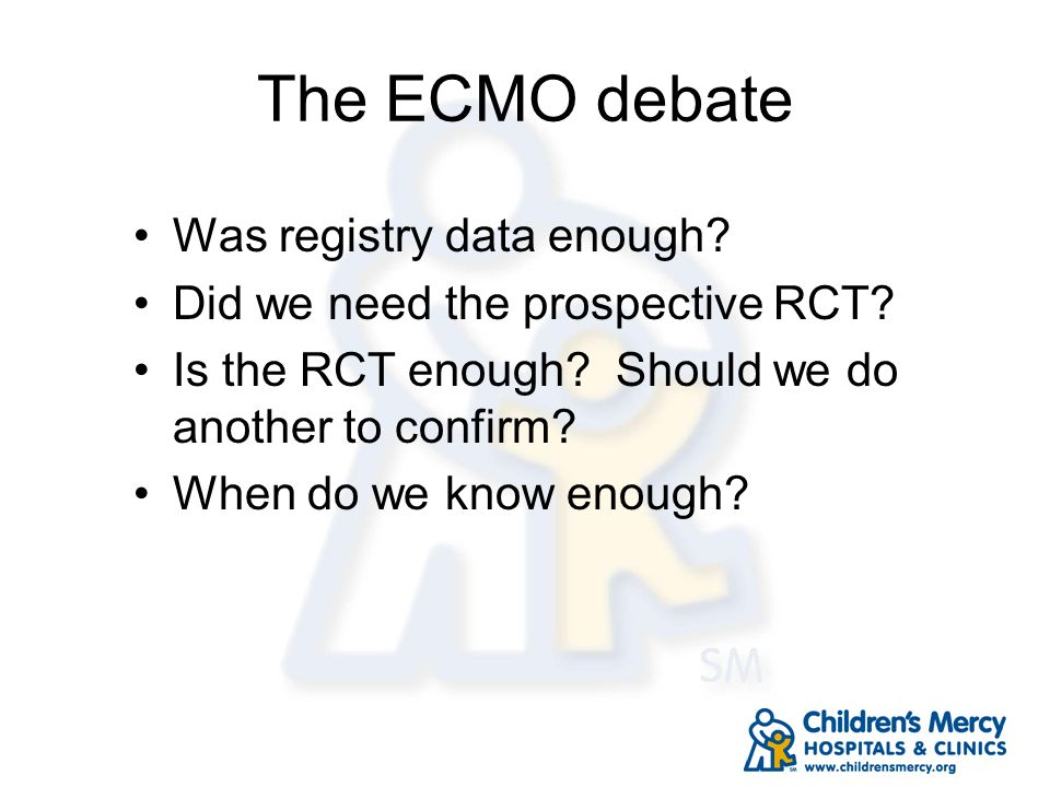 The ECMO debate Was registry data enough