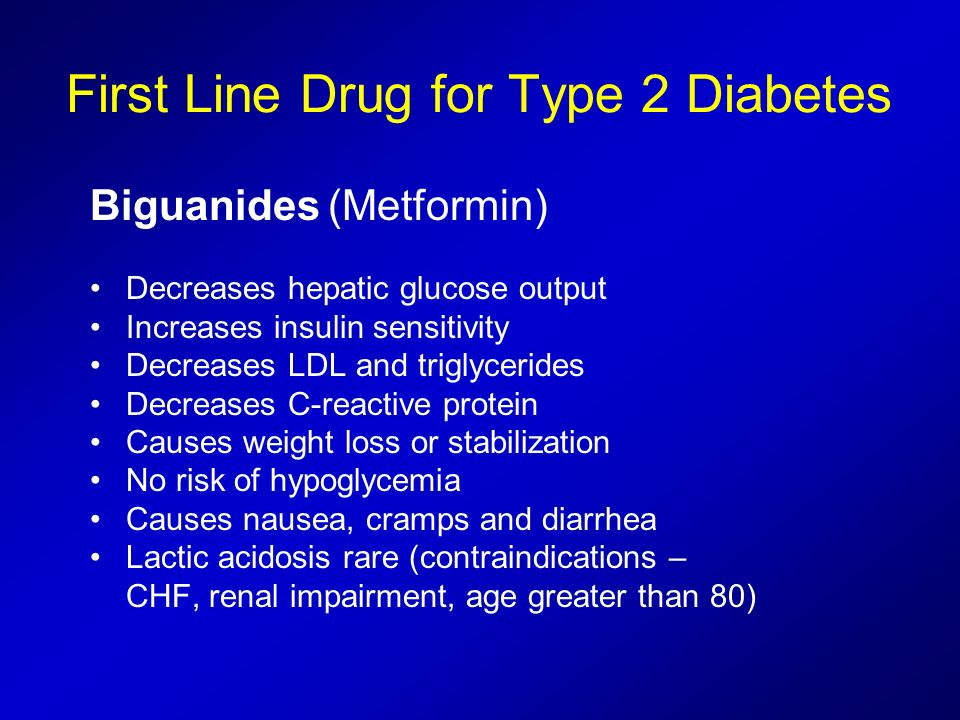 First Line Drug for Type 2 Diabetes