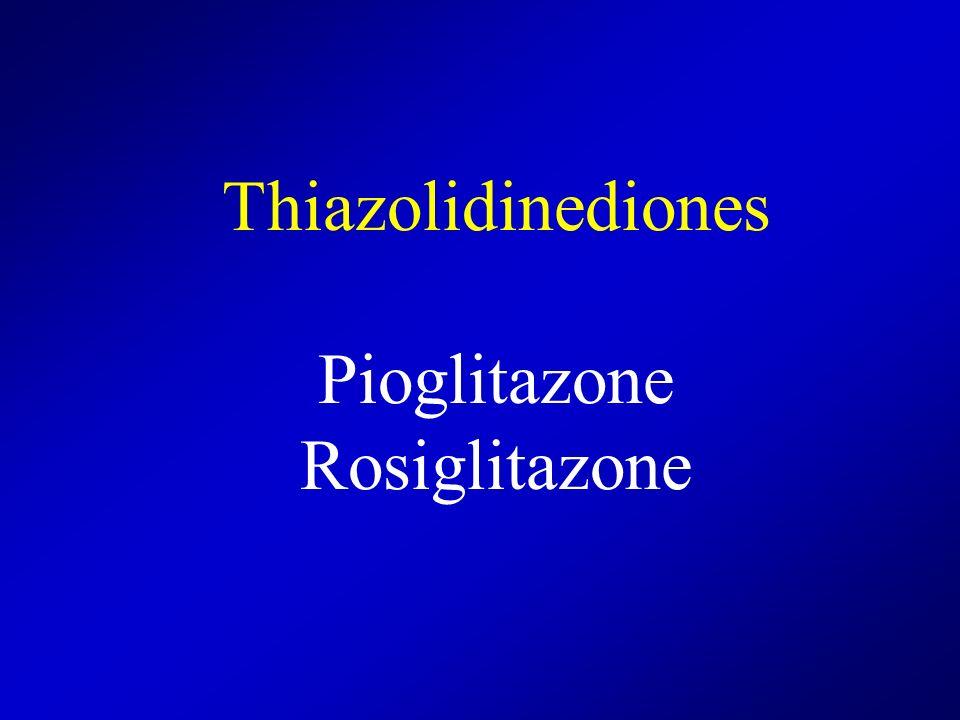 Thiazolidinediones Pioglitazone Rosiglitazone