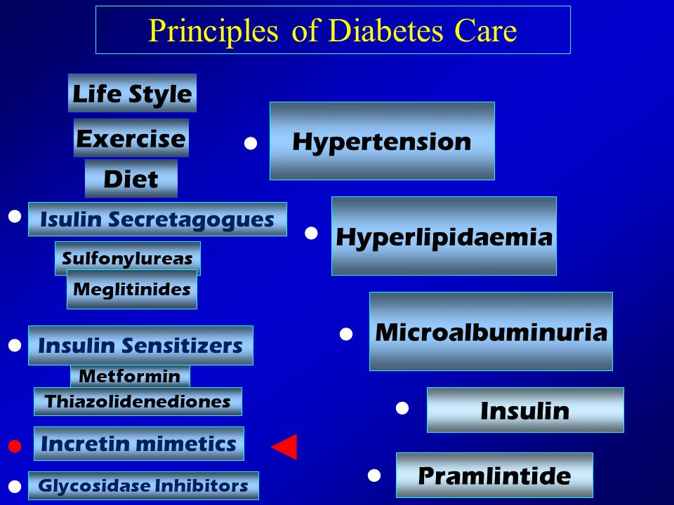 • • • • • • • • • ◄ Principles of Diabetes Care Life Style