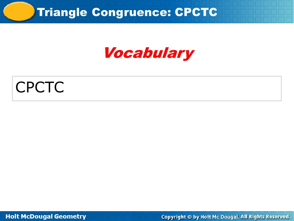 Vocabulary CPCTC