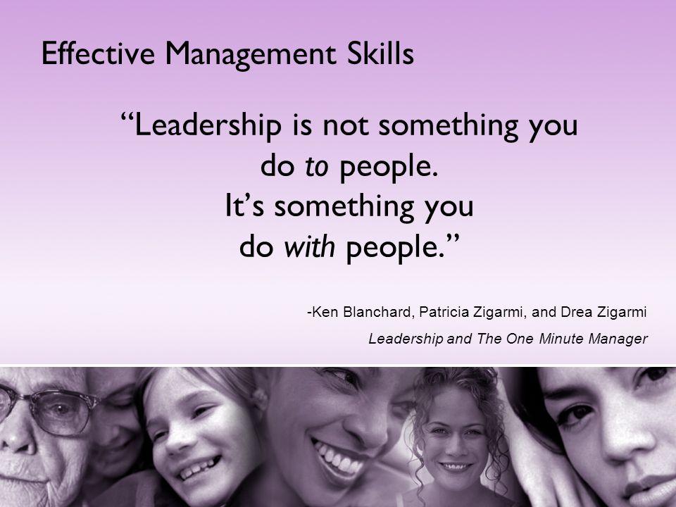 Effective Management Skills