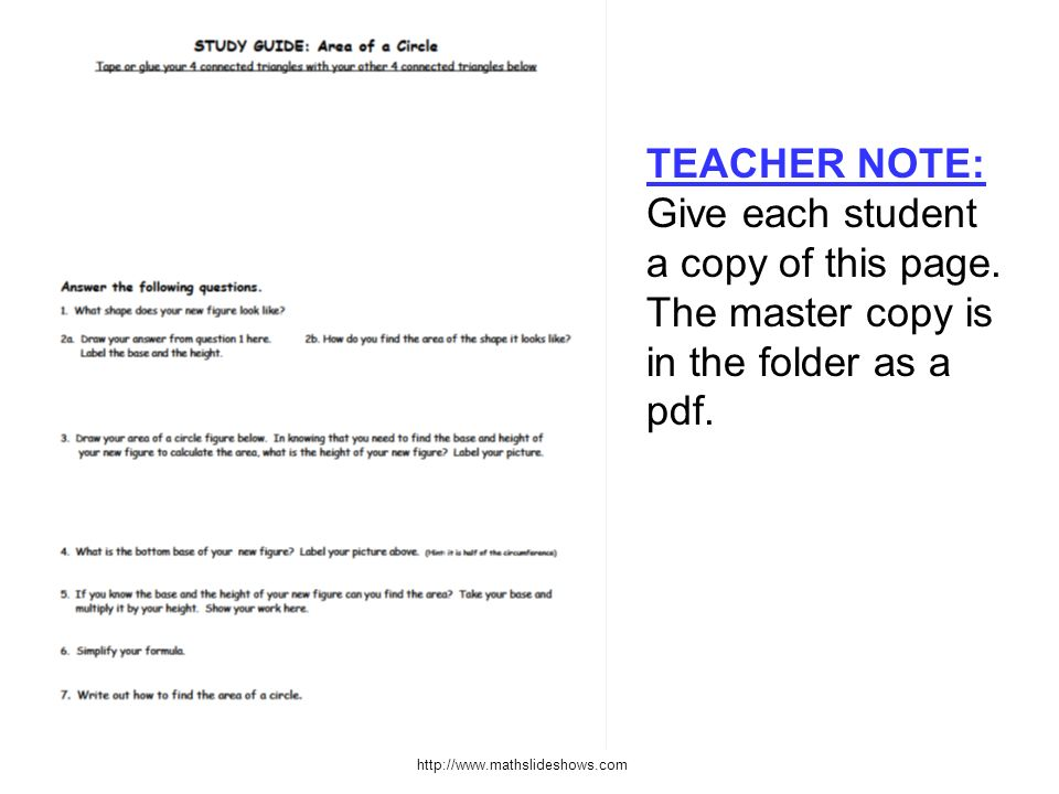 TEACHER NOTE: Give each student a copy of this page