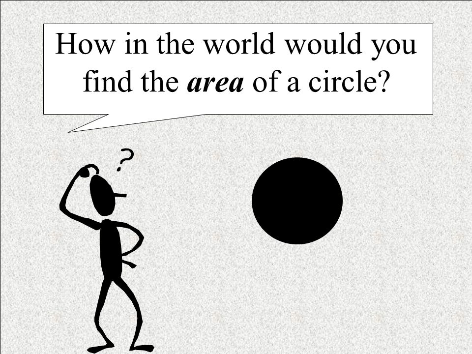 How in the world would you find the area of a circle