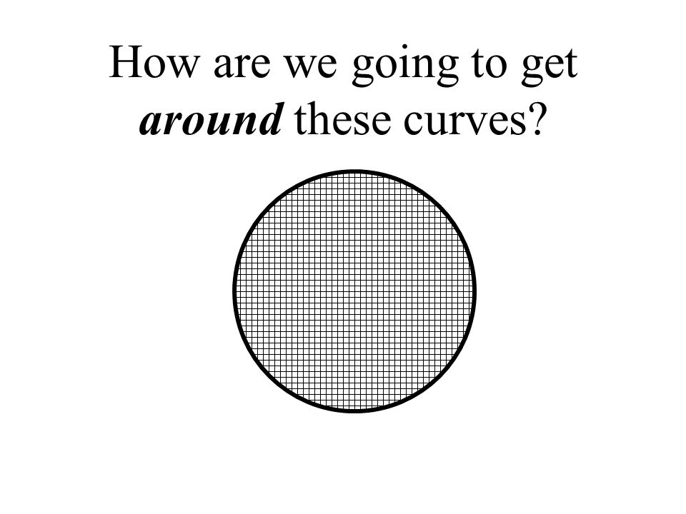 How are we going to get around these curves