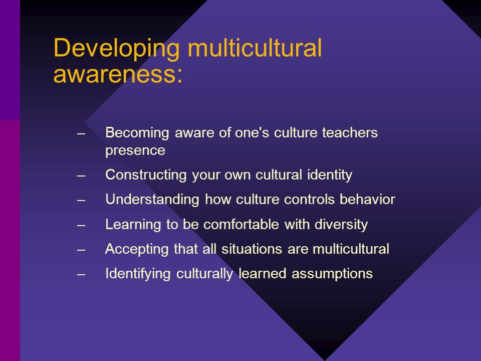 Developing multicultural awareness: