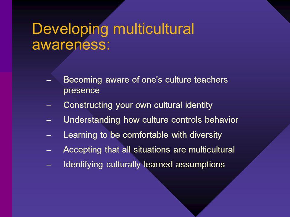 Developing multicultural awareness: