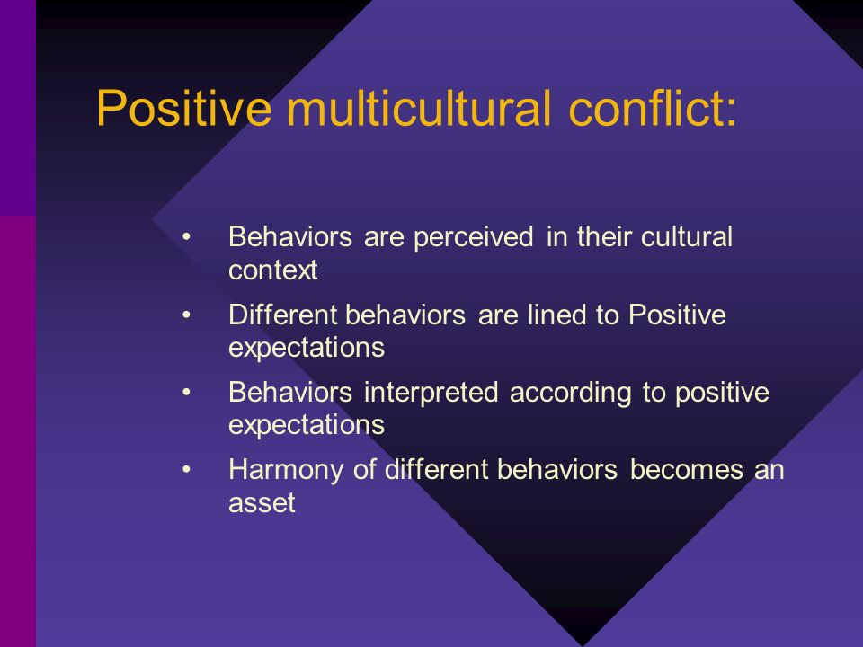 Positive multicultural conflict: