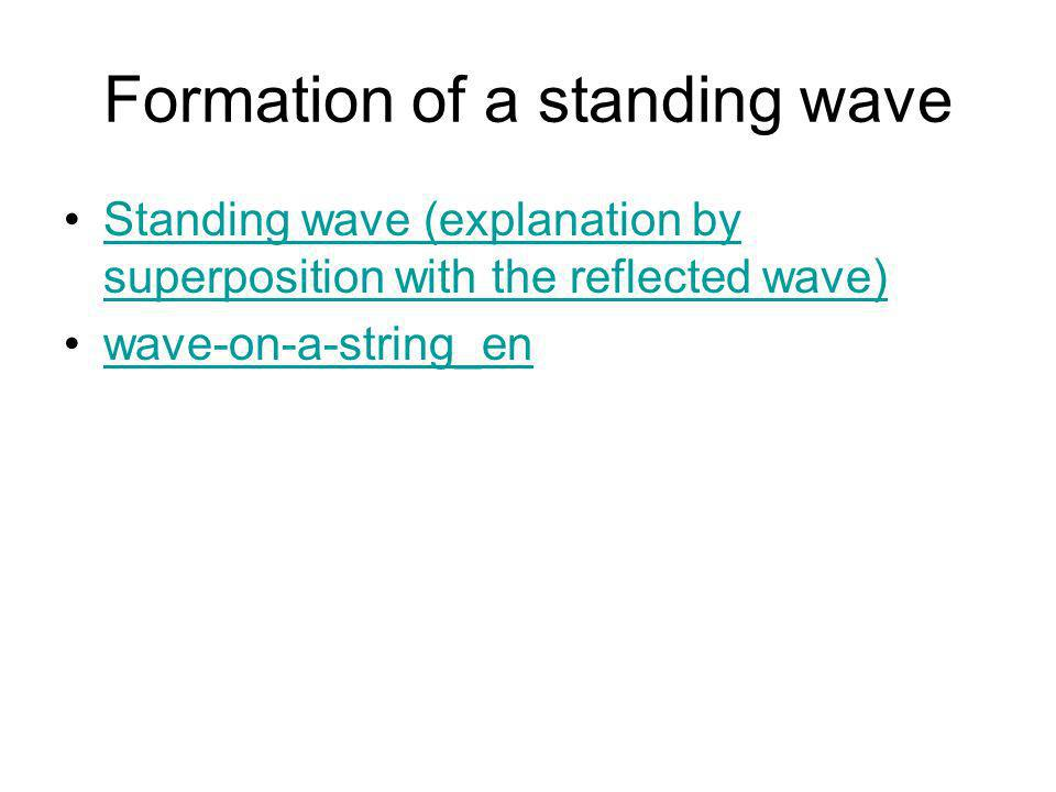 Formation of a standing wave