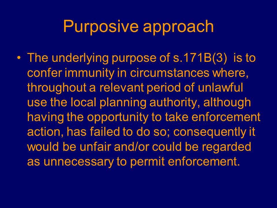 Purposive approach