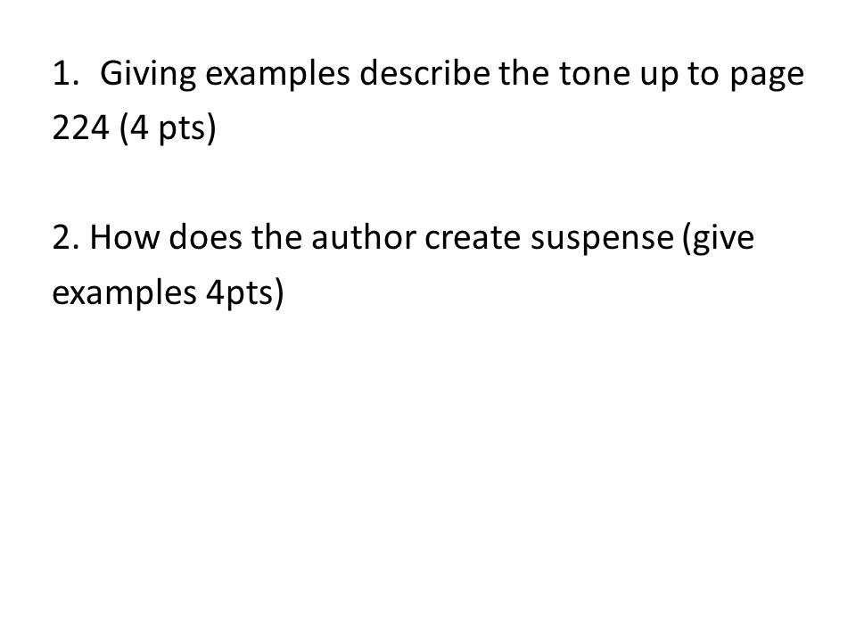Giving examples describe the tone up to page