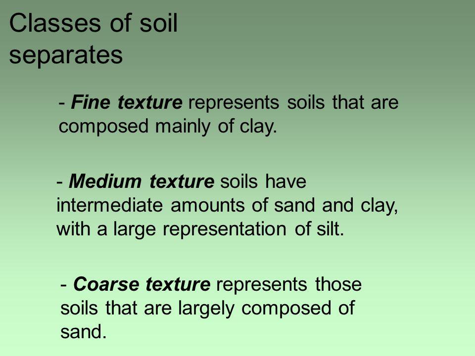 Classes of soil separates