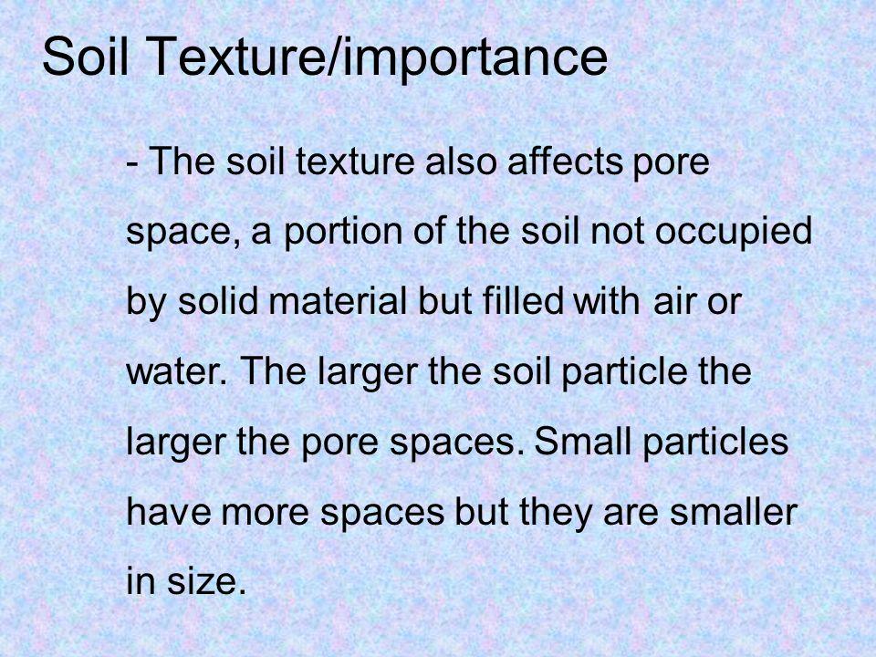 Soil Texture/importance