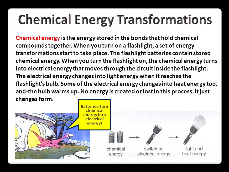 Chemical Energy Transformations