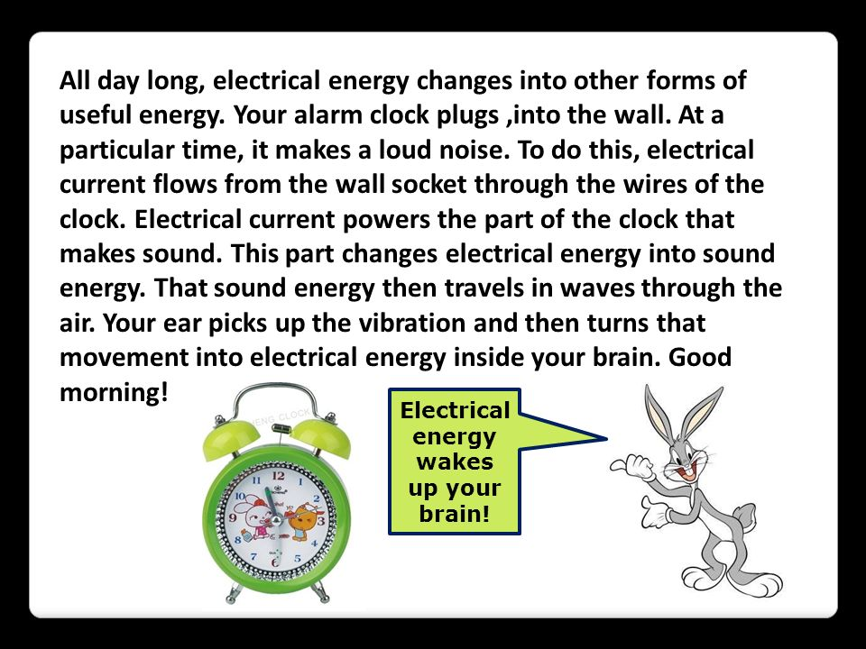 Electrical energy wakes up your brain!