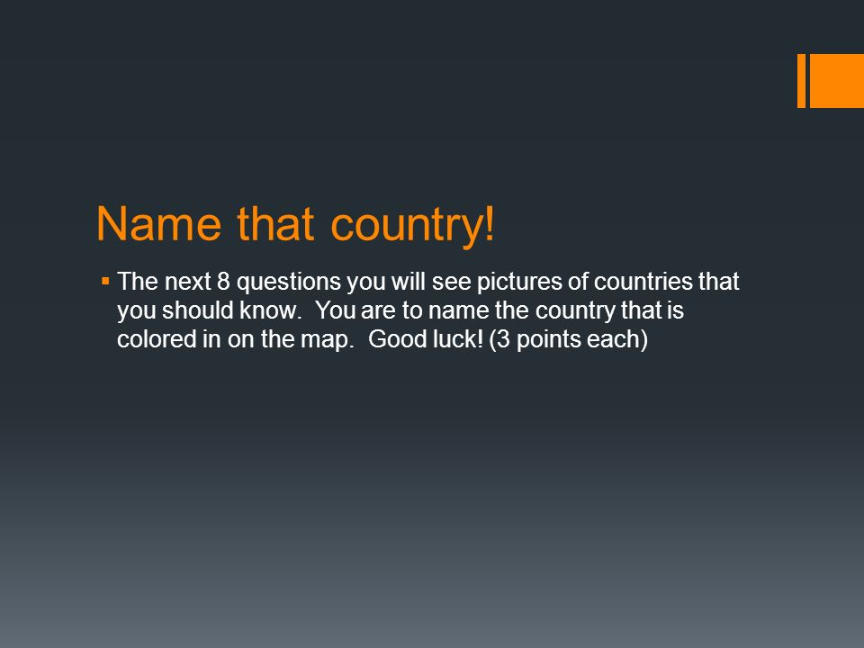 Name that country!