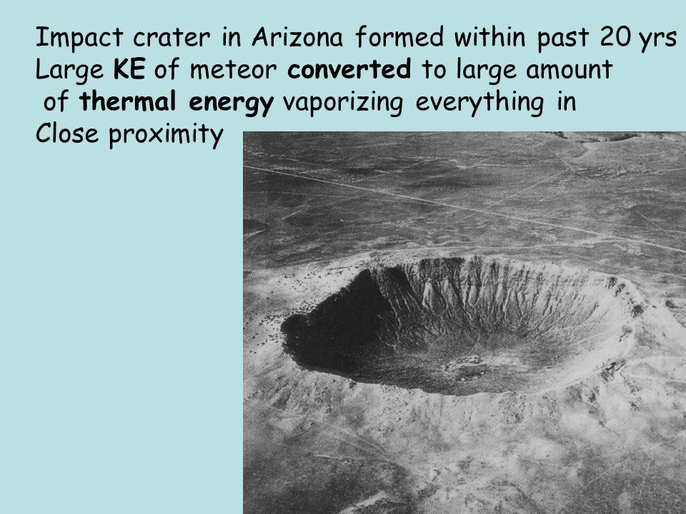 Impact crater in Arizona formed within past 20 yrs