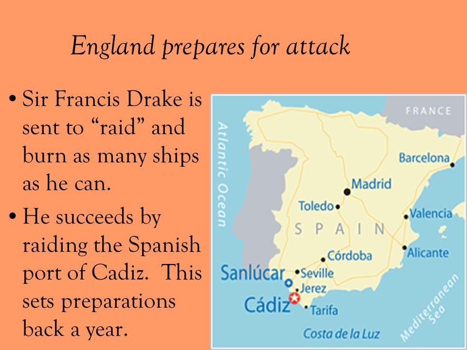 England prepares for attack