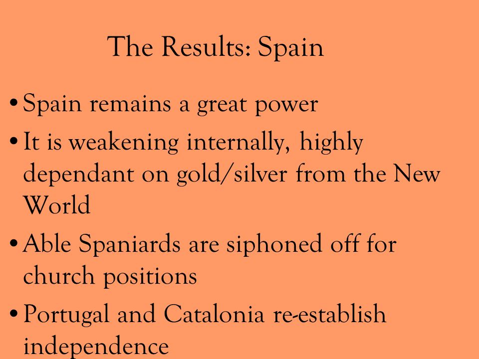The Results: Spain Spain remains a great power